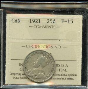 1921-Canada-Twenty-Five-Cents-Silver-ICCS-F-15