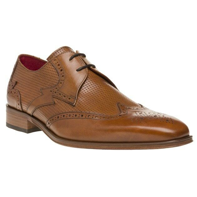 New Mens Jeffery West Tan Jb 84 Leather Shoes Brogue Lace Up