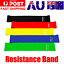 thumbnail 1 - Resistance Bands Power Heavy Strength Exercise Fitness Gym Crossfit Yoga AU