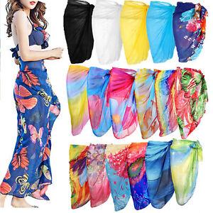 Women-039-s-Ladies-Chiffon-Swimwear-Beach-Cover-Up-Sarong-Pareo-Swimsuit-Dress-Wrap