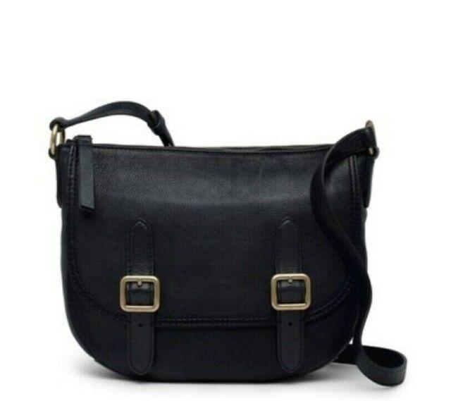 Frye 159546 Women's Black Leather Lily Crossbody Bag Purse