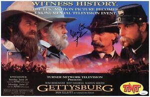 Martin Sheen Autograph Signed 11x17 Photo - Gettysburg (JSA COA)