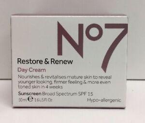 Details about (New) No7 Restore & Renew Day Cream SPF 15 - 1 6oz