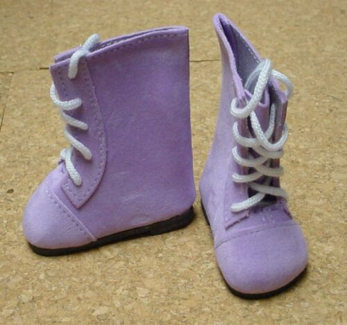 """50mm PURPLE SUEDE Lace-up Boots DOLL Shoes P90 Toni 14/"""" Betsy"""