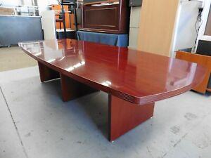 OFFICE-MAHOGANY-3000MM-BOARDROOM-TABLE-BRISBANE