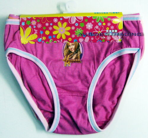 New Miley Cyrus Hannah Montana girls Briefs panties undies 100/% Cotton pack of 3