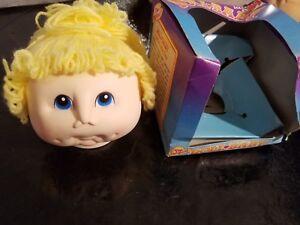 ORIGINAL DOLL BABY HEAD Cabbage Patch MARTHA NELSON THOMAS Blue Eyes Blonde 1984