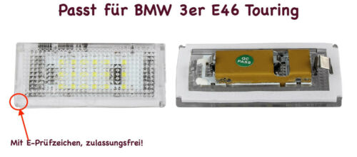 2x TOP LED SMD Kennzeichenbeleuchtung Für BMW 3er E46 Touring