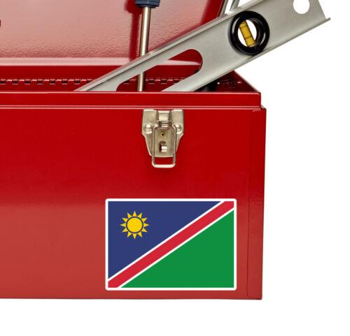 2 x Autocollant Vinyle Namibie Bagage Voyage iPad ordinateur Portable Carte Drapeau Autocollant Voiture # 5408