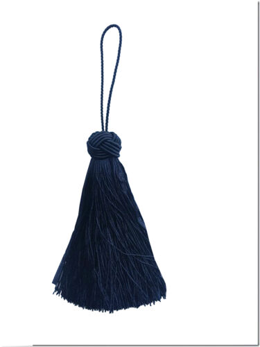 Turks Head Knot Tassel NAVY BLUE 10.5cm