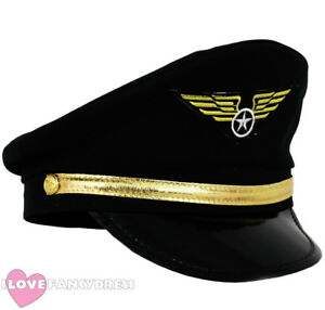 Image is loading PILOT-CAP-FANCY-DRESS-AIRLINE-CAPTAIN-HAT-AVIATION- 007fba80c61