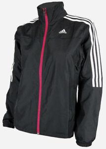 Details zu adidas Response Jacke Damen Trainingsjacke Climaproof Wind Run Fitness schwarz
