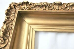 SM ANTIQUE FITS 5 X 8 GOLD PICTURE FRAME WOOD GESSO ORNATE FINE ART COUNTRY