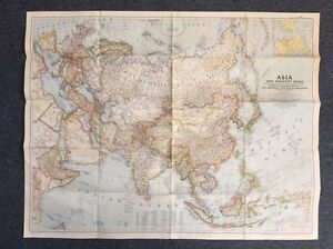 Map Of Asia 1950.Details About Map Of Asia 1950