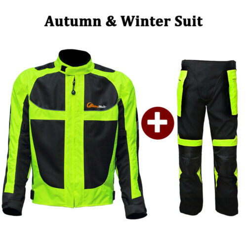 Motorcycle Reflective Winter//Summer Safety Jackets Pants Protect Clothing Suits