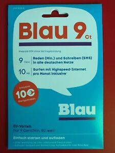 Blau Sim Karte Freischalten.Details Zu Sim Karte Prepaid Sim Karte Blau 9 Ct