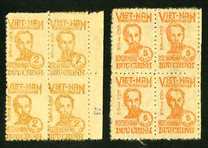 Vietnam-Stamps-IL62-3-XF-2x-Blocks-of-4-OG-NH-Scott-Value-180-00