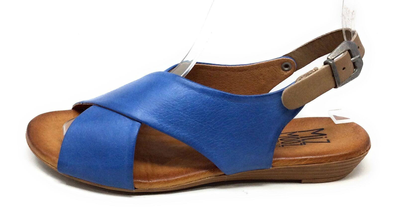 Miz Mooz Damen Anya Kreuz Riemchensandale Leder Jeans Blau 37 Eu 6.5-7 US