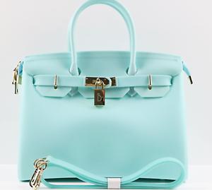 Image Is Loading Matte Tiffany Blue Vegan Handbag Waterproof Blk Bag