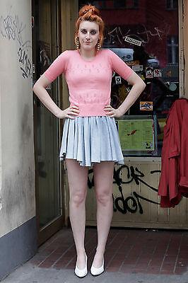 Maglia Da Donna Maglione Knitted Shirt Rosa Pink 70er True Vintage 70´s Women 80er-