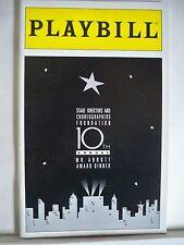 10TH ANNUAL MR ABBOTT AWARD DINNER Playbill JERRY ZAKS / GWEN VERDON / CBS NY 94