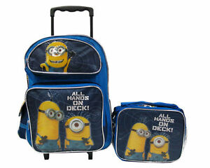 """Despicable Me 2 Minion 16"""" Rolling Backpack & Lunch Box ..."""