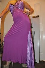 "PARTY LAVENDER MAXI DRESS ""DANIELA DREI""STRETCH Swarovski Marilyn Monroe 10-12"