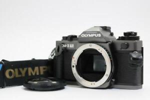 Olympus OM-3Ti 35mm SLR Film Camera OM3 ti w/ Data back 4 /Grip From JAPAN 2865