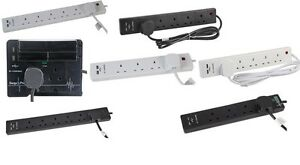 EXTENSION-LEAD-WITH-2-x-USB-SOCKETS-WHITE-BLACK-SURGE-PROTECTED-1m-2m-3m-5m-USB