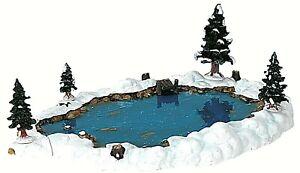 Lemax 94387 MILL POND Christmas Village Landscape Accessories Lake Set of 6 R