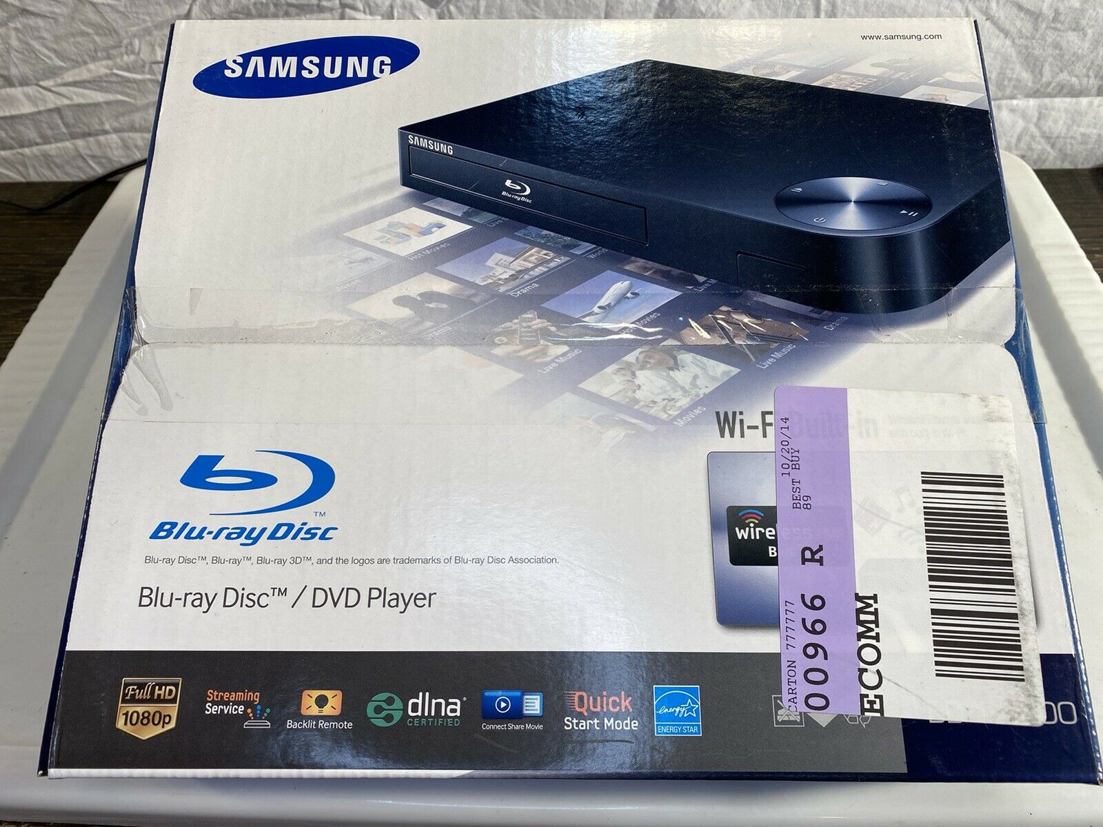 SAMSUNG Blu-Ray Disc/DVD Player +Remote Streaming Apps BD-F5700 Full HD 1080P 1080p apps full player samsung streaming