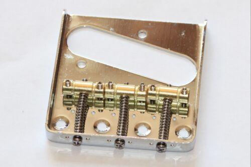 Vintage 3 brass saddle telecaster bridge chrome with 3 saddles for Tele