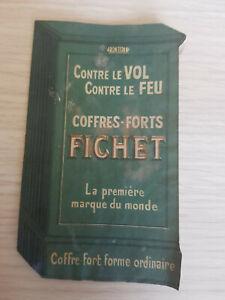 Ancien livret publicitaire coffres forts FICHET avec courrier demande catalogue