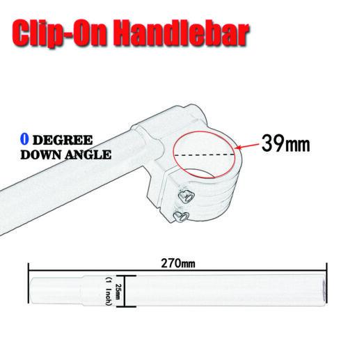 "CNC 1/"" Bars Billet 39mm Clip-On Handlebars For Harley Bobber Café Racer Customs"