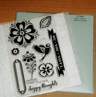 Ctmh C1536 Happy Thoughts Flowers, Beyoutiful, Think, Bird, Frame