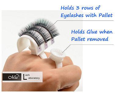 Mia® Glue Ring Strip Eyelash Holder  Eyelash Extensions Pallet Set