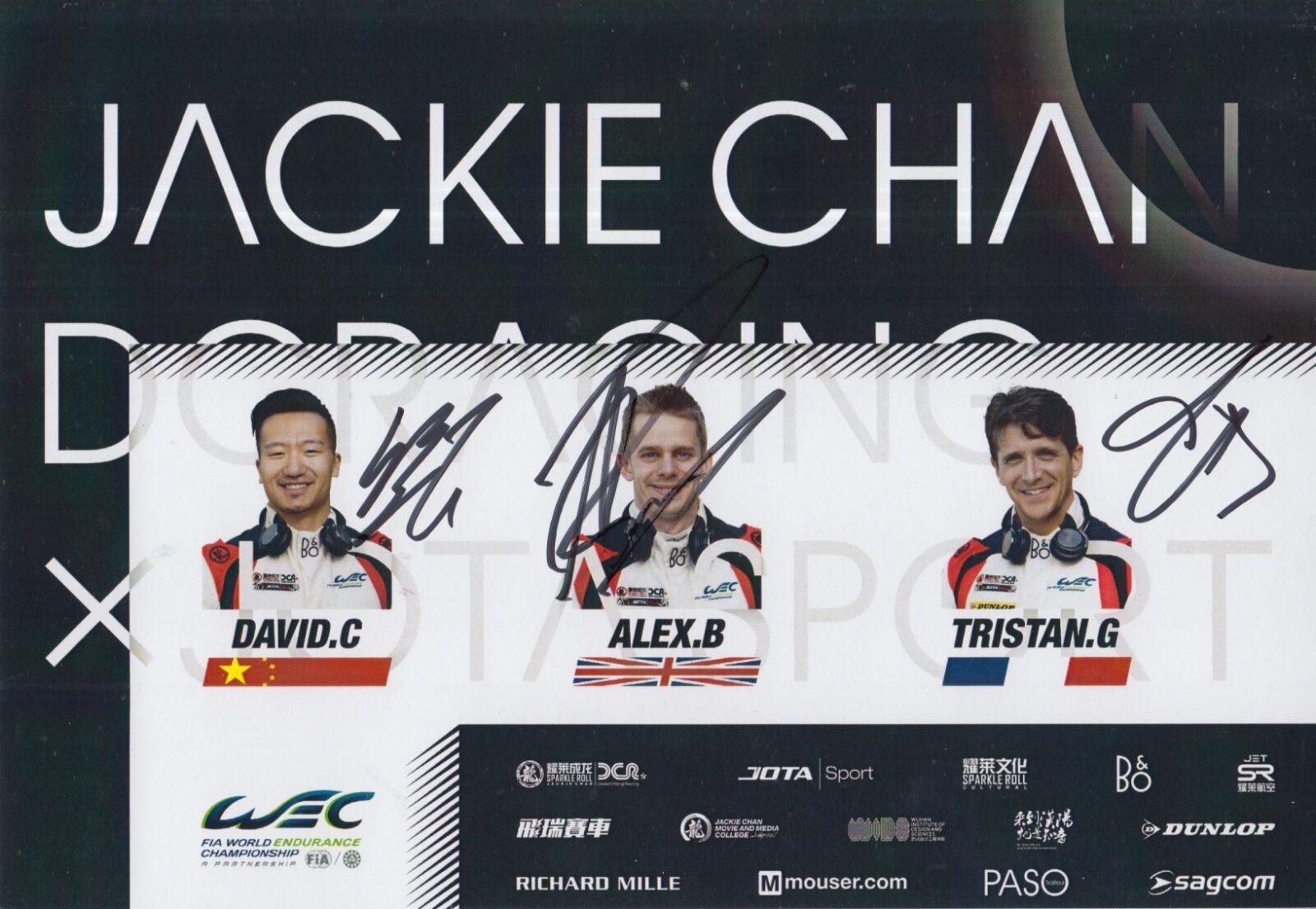 CHENG,BRUNDLE,GOMMENDY SIGNÉ À LA MAIN MAIN LA JACKIE CHAN LE MANS/WEC PROMO CARTE 2017 8a78c2