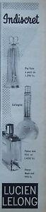 PUBLICITE-1954-LUCIEN-LELONG-FLACON-DE-LUXE-INDISCRET-FARFUM-DE-COLOGNE