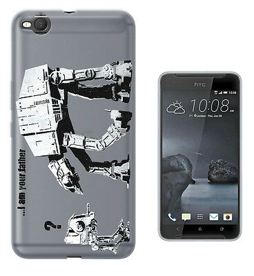 C70 Banksy Star Wars Robot Case Cover For HTC 10 M8 M9 A9 X9 DESIRE 530 610 825