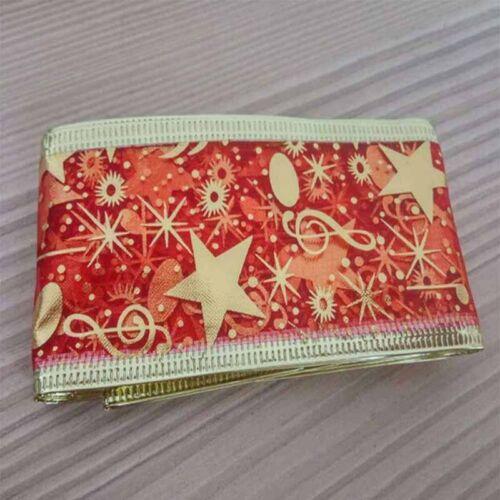 2m Star Music Note Pattern Ribbon Christmas Decor Home Ornaments