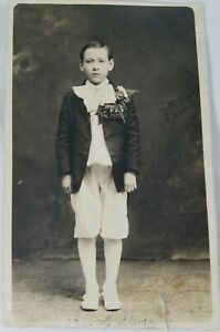 Small-Art-Vintage-Real-Photo-Post-Card-Albert-Wearing-Knickers-AZO-1900-039-s