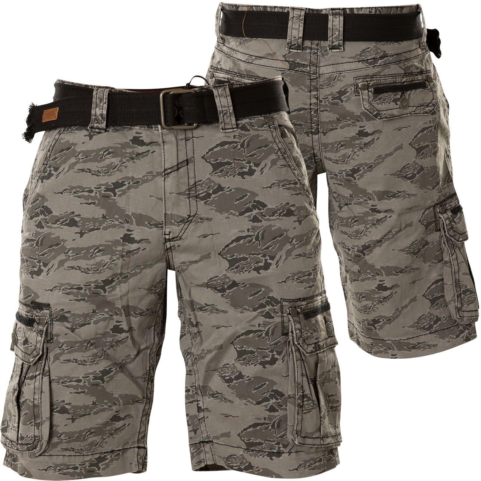 Affliction Shorts Gavin Grey Camouflage