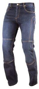 Jeans-100-Coton-Moto-Pantalon-CE-Protections-Renforts-Homme-Bleu