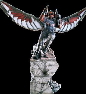 Marvel Captain America Guerre civile: Statue de Falcon 1: 4 Iron Studios Sideshow Rare