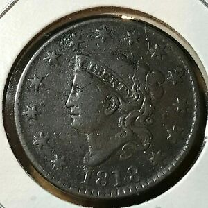 1818-CORONET-HEAD-LARGE-CENT-SCARCE-THIS-NICE