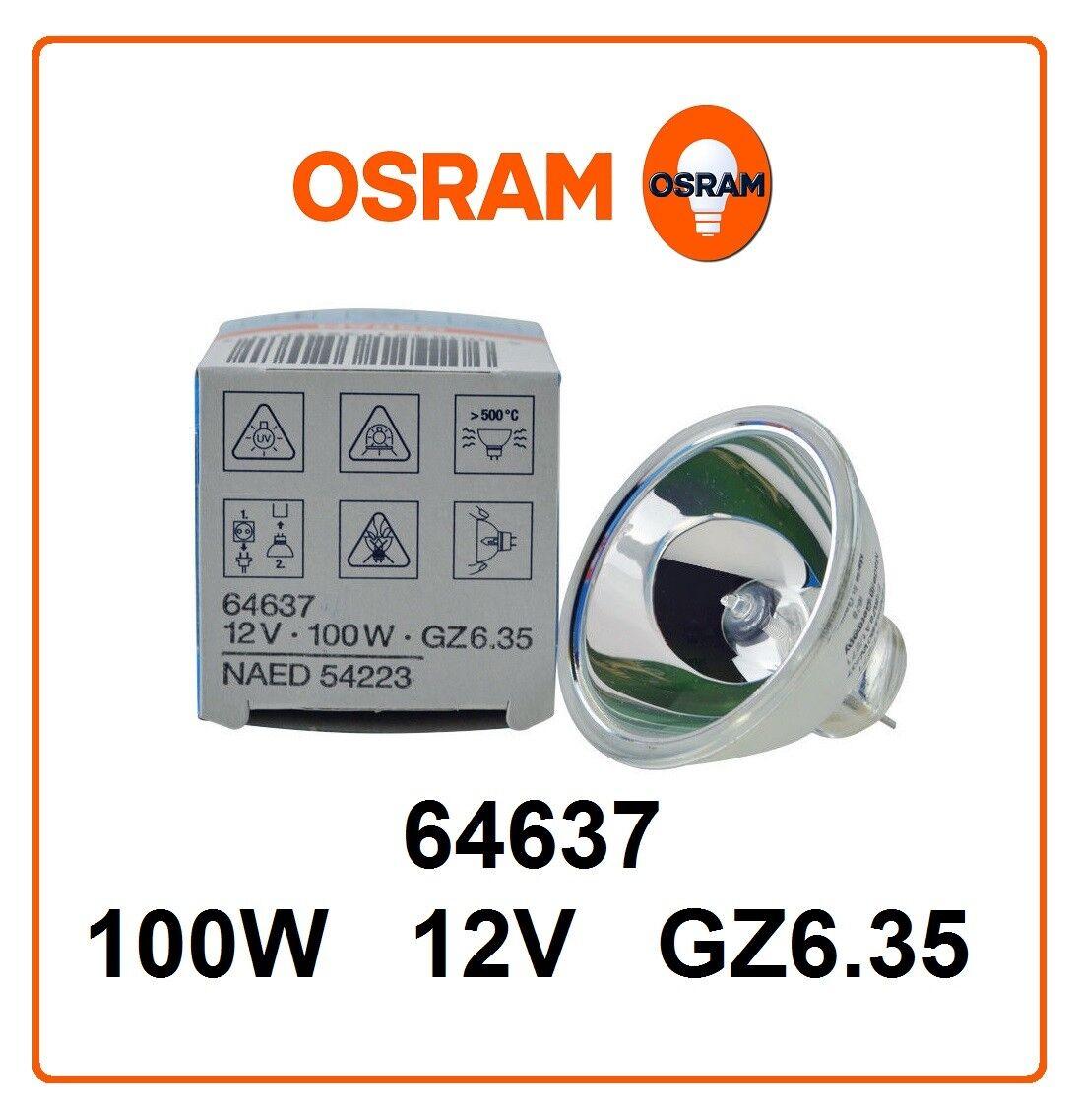 NEW OSRAM HALOGEN DISPLAY OPTIC LAMP LIGHT BULB 64637 12V 100W GZ6.35