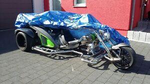 Abdeckplane-XL-Trike-Faltgarage-Pelerine-Wetterschutz-Garage-BOOM-Mustang-Rewaco