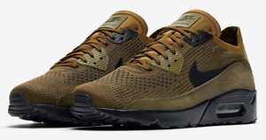 Details about Nike Air Max 90 Ultra 2.0 Flyknit Mens Trainers Khaki Black  BNIB UK Sizes 5 - 9
