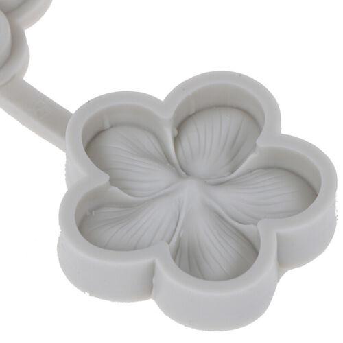 3D vivid Plum blossom silicone fondant Wedding cake chocolate decorating m CJ