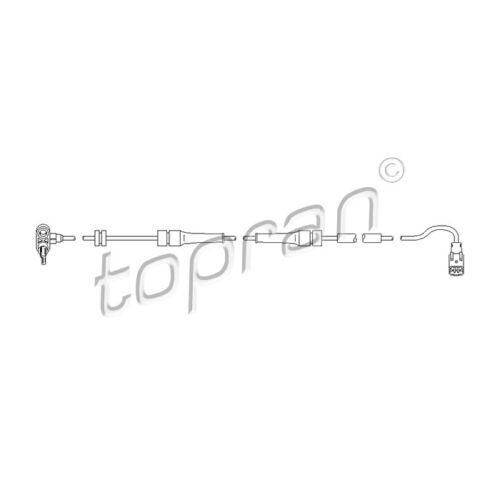 TOPRAN Sensor wheel speed 722 806